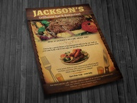 Restaurant Bar Magazine Flyer Ad Template