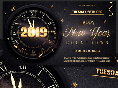 new year invitation psd flyer party nye invitation nye flyer nye nightclub new years eve