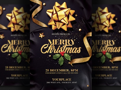 Christmas Party Flyer Invitation Template