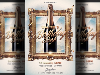 birthday party flyer template by hotpin dribbble dribbble