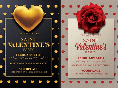 Valentines Day Flyer Invitation Template