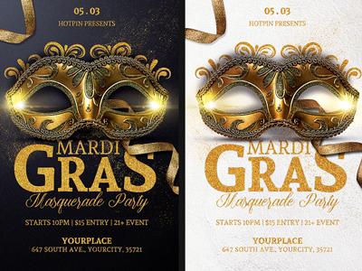 Masquerade Mardi Gras Flyer Template