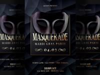 Mardi Gras Masquerade Flyer Template