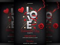 Elegant Valentines Day Party Flyer