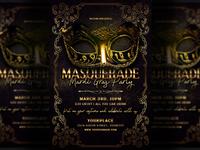 Masquerade Mardi Gras Carnival Flyer Template