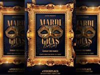Masquerade Mardi Gras Party Flyer Template
