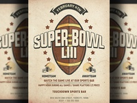 American Football Super Bowl Flyer Template