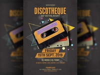 Retro Disco Party Flyer Template