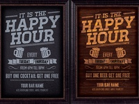 Happy Hour Promotion Flyer Template