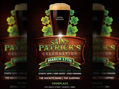 St. Patricks Day Flyer Template