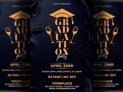 Graduation Night Party Flyer Template by Hotpin | Dribbble ...