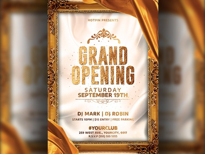Free Grand Opening Flyer Template from cdn.dribbble.com