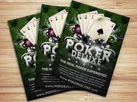 Poker Magazine Ad Flyer Template