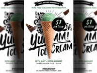Ice Cream Shop Flyer Poster Template