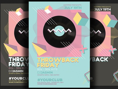 Throwback Fridays Party Flyer by Hotpin | Dribbble | Dribbble
