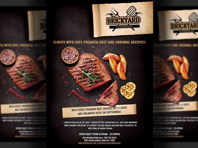 Steak House Grill Flyer Template