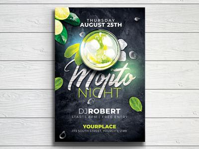 Mojito Night Flyer Template