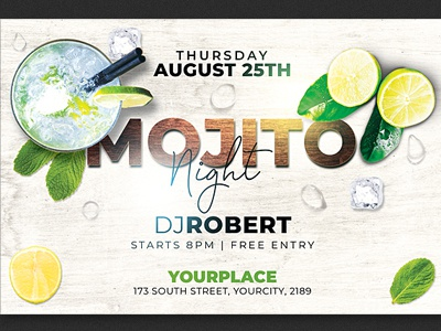 Mojito Night Party Flyer Template