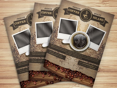 Coffee Shop Magazine Ad Or Flyer Template By Christos Andronicou