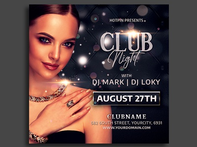 Girls Ladies Night Party Flyer Template nightclub ladies night ladies invitation instagram glamour girls night out girls night flyer design event elegant flyer elegant club flyer classy celebration black party birthday party