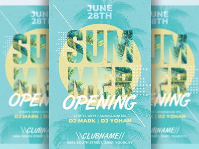 Summer Flyer Invitation Template