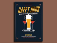Happy Hour Flyer Template
