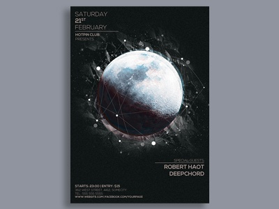 Moon Party Flyer Template
