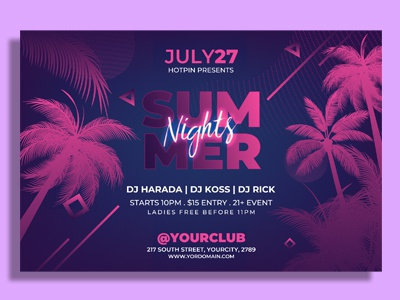 Summer Party Flyer Template white affair white party flyer nightclub flyer nightclub tropical flyer tropical party flyer promotion poster event beach party flyer pool party flyer invitation design template club flyer party flyer summer flyer summer party flyer summer