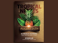 Topical Summer Party Flyer Template