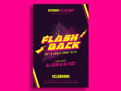 Flashback Retro Flyer Template