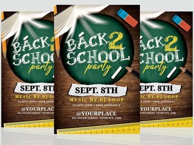 Back To School Flyer Template