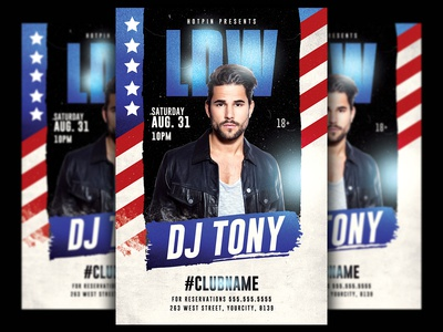 Labor Day Dj Flyer Template