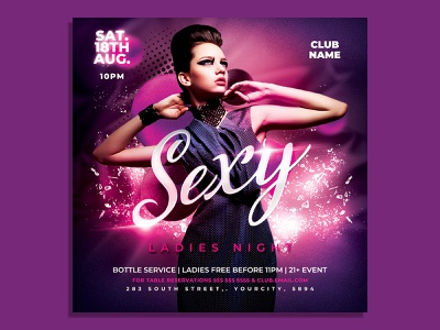 Ladies Night Party Flyer Template red party flyer nightclub night club flyer luxury latin night ladies night invitation instagram gold glamour girls night out flyer template flyer design fashion event club flyer classy birthday party