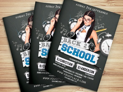 Back To School Party Flyer Template By Christos Andronicou  Dribbble