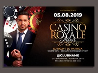 Casino Night Party Flyer Template