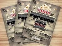 Popcorn Party Flyer Template