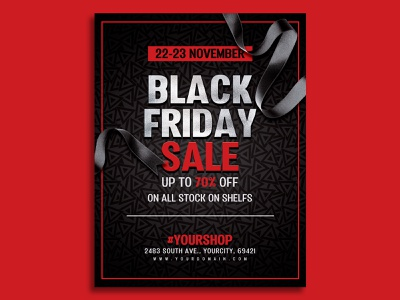 Black Friday Poster Designs Themes Templates And Downloadable Graphic Elements On Dribbble