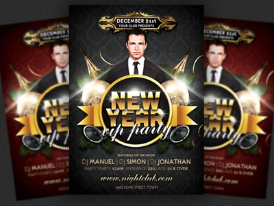 new years eve party flyer template a4 a5 advertising amazing celebration christmas club flyer design flyer