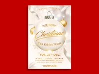 Christmas Invitation Flyer Template