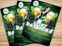 St.Patricks Party Flyer Template