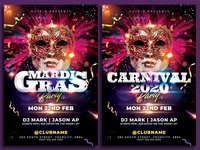 Carnival Mardi Gras Flyer Template
