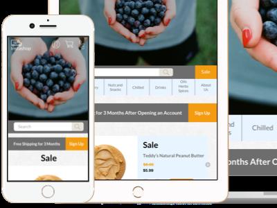 Instashop Homepage On Ios Devices ui ux designlab design academy responsive homepage