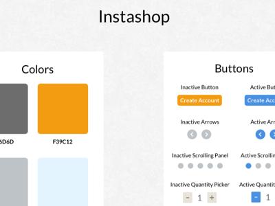 Instashop Design Patterns instashop design academy designlab design patterns ui kit