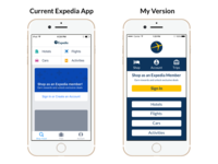 Old And New Comparison Expedia Redesign