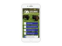 Cattle Market Mobile Page Iphone Silver