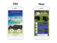 Cattle Market Mobile Page Old And New Iphone Silver