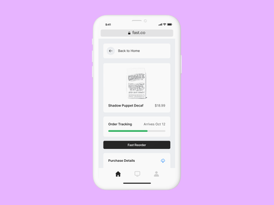 Fast Reorder checkout mobile fast ecommerce