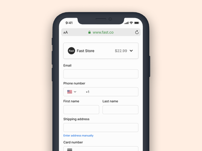 Accessible input fields input fields inputs accessibility mobile fast ecommerce checkout