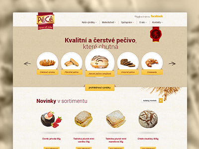 PéCé bakery pastry food web design website design