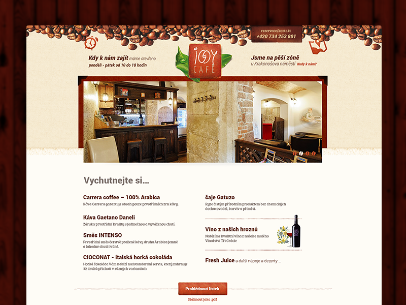 Iggy website design coffee cafe bar web design